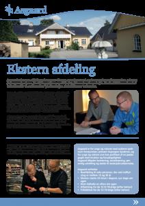 Botilbudet Asgaards brochure for ekstern afdeling